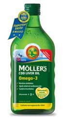 Ulei din ficat de cod Omega 3 cu aroma de Lamaie - Moller s