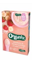 Cereale orez integral, porumb, banana  si capsuni   - Organix