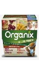 Piure de fructe - mere, cirese, banane - Organix
