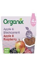 Piure de fructe - mere, coacaze, zmeura -  Organix