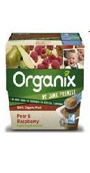 Piure de fructe - pere si zmeura  - Organix