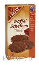 Minigofre fara gluten, imbracate in ciocolata cu lapte - Rabenhorst