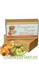 Sapun Bio pt. Fata si Corp din plante organice Scortisoara si Portocale - Sodasan