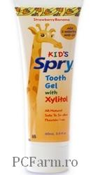 Gel gingival pentru copii cu capsuni si banana SPRY