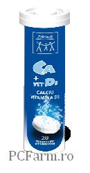 Calciu+Vitamina D3 Efervescent - Zdrovit