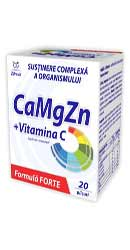 Calciu Magneziu Zinc Plus Vitamina C  plicuri - Zdrovit